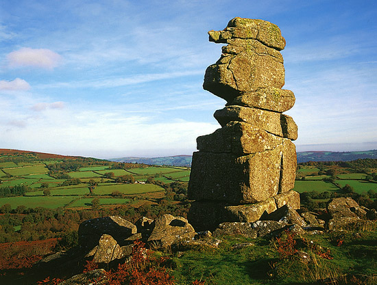 Dartmoor is littered with granite outcrops and panoramic views