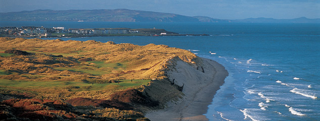 Royal Portrush GC and town