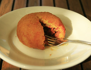 Arancina - this one with a ragu filling