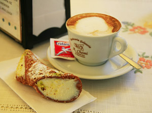 Cannolo and Cappucino - can't find them in the Weighwatchers handbook...