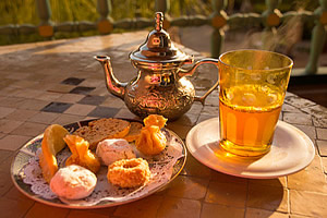 Moroccan tea and pastries